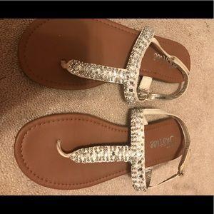 justice sequin sandals